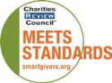 Meets standards for charities by the Review Council